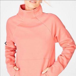 Fabletics | Dusty Rose Mock Neck Sweatshirt